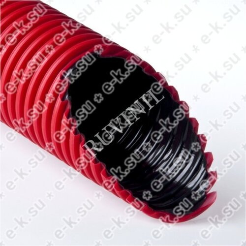 Труба двустенная ПНД/ПВД 63/52мм красная (50м) (Т2-КЛ0-063К(50))