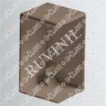 Заглушка для РКК-100х60 и 100х40 коричневая (ЗГЛ-100х60-К) Рувинил