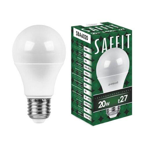 Лампа светодиодная LED 20Вт Е27 дневной, SBA6020 (55015) SAFFIT