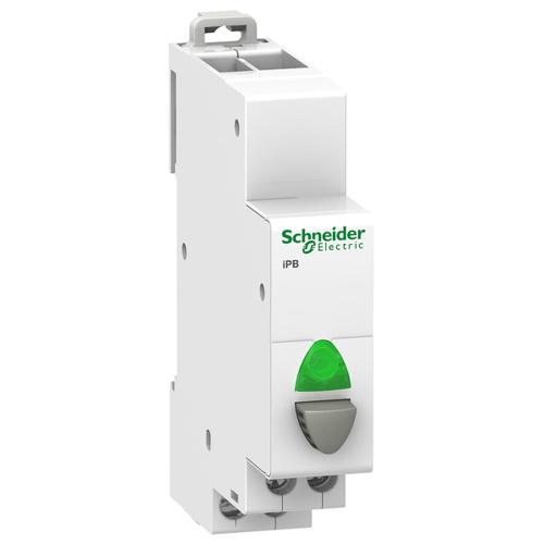 Кнопка управления iPB 1НО серая+зеленый индикатор