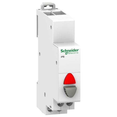 Кнопка управления iPB 1НЗ серый+красный индикатор