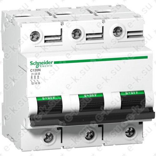 Автоматический выключатель C120N B 125A 3P