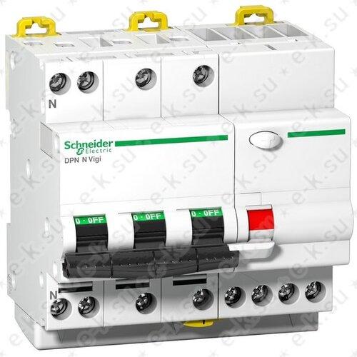 Выключатель автоматический дифференциальный 4п 6кА 32A C 30мА AC DPN N VIGI