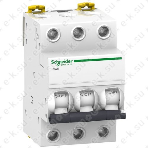 Выключатель автоматический 3п (трехполюсный) 16А С 6кА iK60N