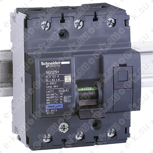 Автоматический выключатель NG125H C 40A 3P
