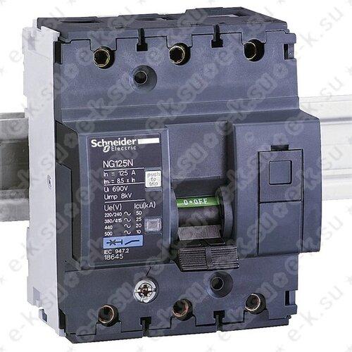 Автоматический выключатель NG125N C 125A 3P