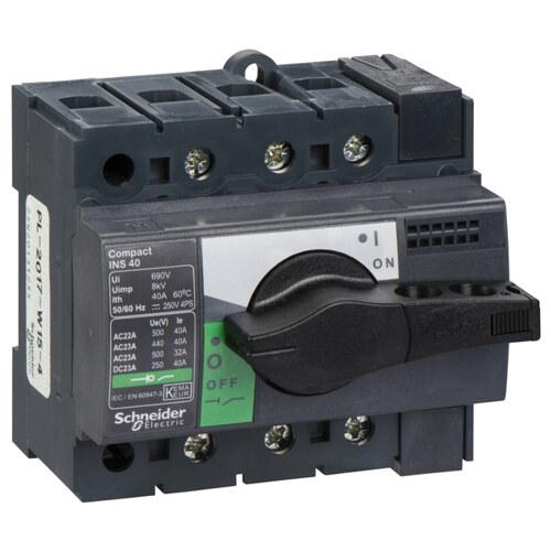 Выключатель-разъединитель INS40 3 полюса