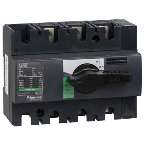 Выключатель-разъединитель INS160 3 полюса