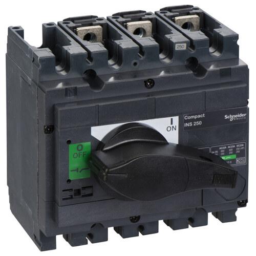 Выключатель-разъединитель INS250 3 полюса