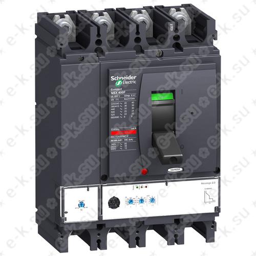Выключатель автоматический NSX400F Micrologic 2.3 400A 4П4Т