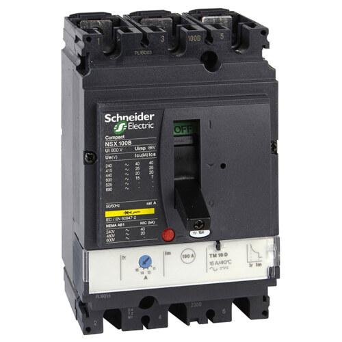 Выключатель автоматический NSX100B TM80D 3П3Т