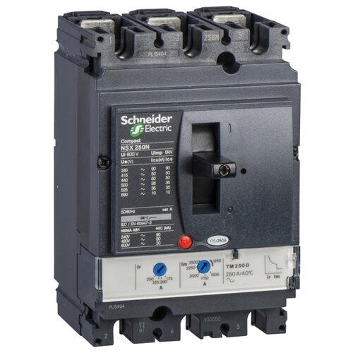 Выключатель автоматический NSX250N TM200D 3П3Т