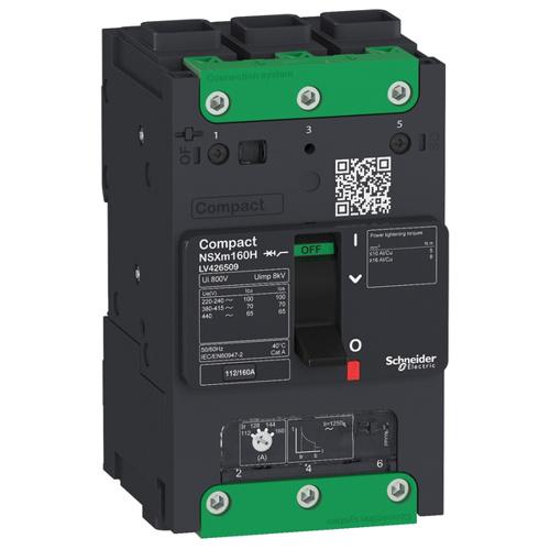 Выключатель автоматический NSXm 50kA TM160D Elink