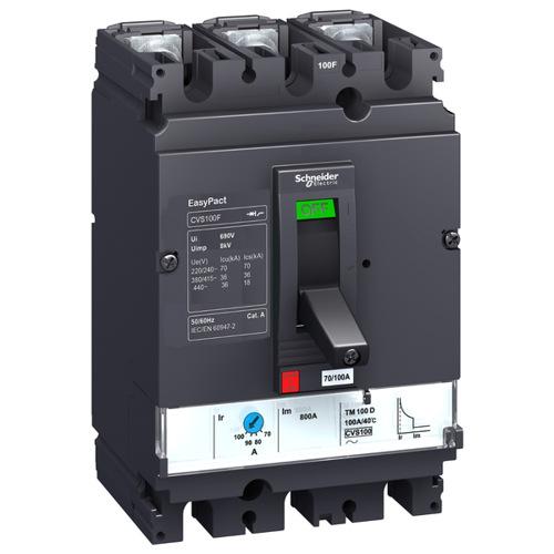 Автоматический выключатель EasyPact CVS100F TM25D 36кА 3P