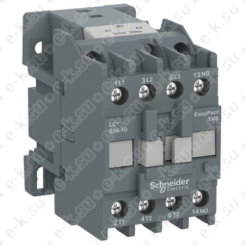 Контактор E 3P, 18А AC-3, катушка управления 24В AC, 1НО