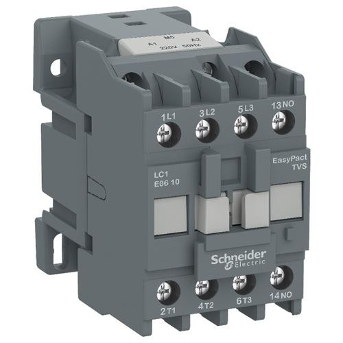 Контактор E 3P, 9А AC-3, катушка управления 220В AC, 1НЗ