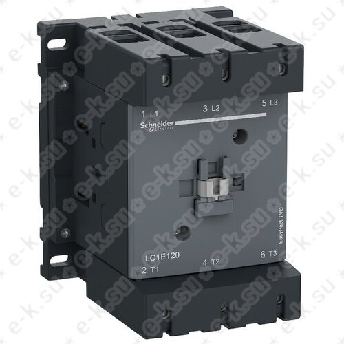 Контактор E 3Р, 160A AC-3, катушка управления 380В AC, НО+НЗ