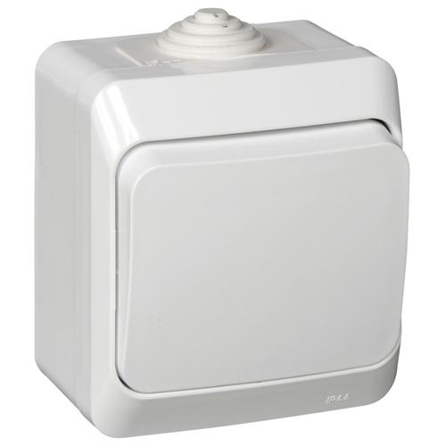 ЭТЮД Выключатель 1-клавишный наружный IP44 белый