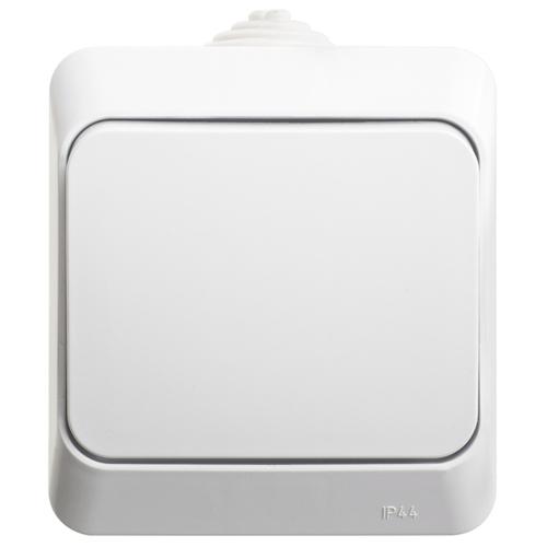 ЭТЮД Переключатель 1-клавишный наружный IP44 белый схема 6
