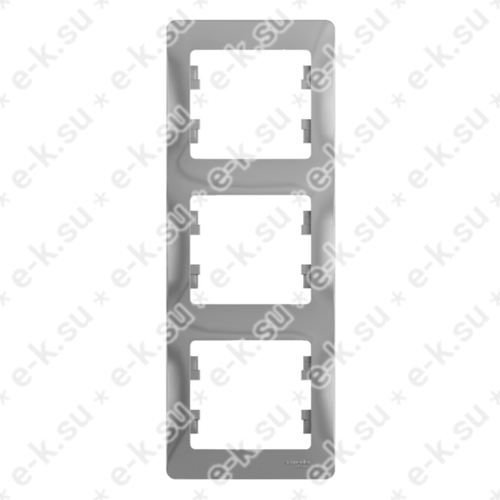 Glossa Рамка 3-постовая вертикальная, алюминий