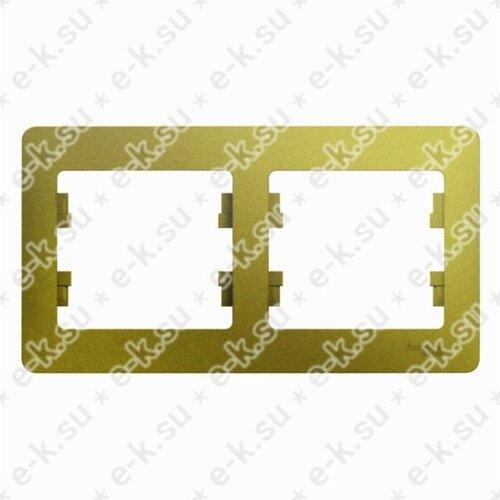 Glossa Рамка 2-постовая, горизонтальная, фисташковый