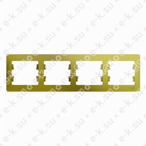Glossa Рамка 4-постовая, горизонтальная, фисташковый