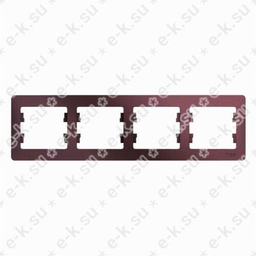 Glossa Рамка 4-постовая, горизонтальная, баклажановый