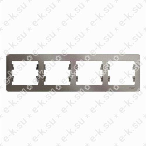 Glossa Рамка 4-постовая, горизонтальная, платина