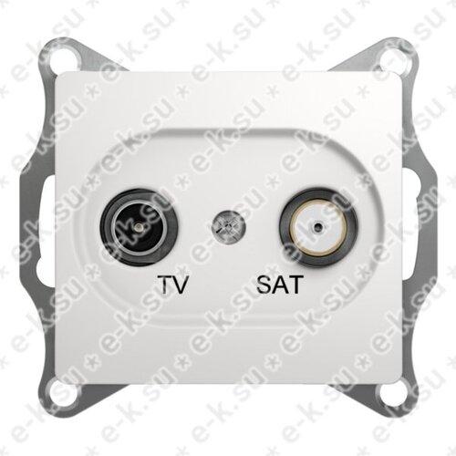 Glossa Розетка телевизионная TV-SAT одиночная в рамку 1дБ белая