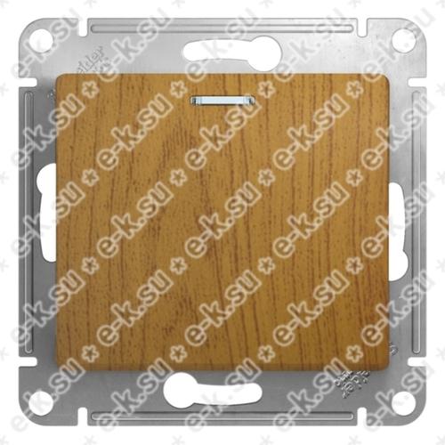 Glossa Переключатель 1-клавишный с лампой - механизм - 10 AX - дерево
