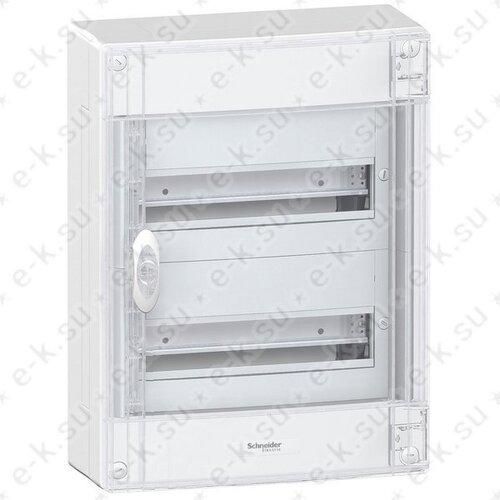 Щит распределительный навесной ЩРн-П-26 IP40 пластиковый прозрачная дверь белый Pragma