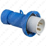 Вилка кабельная 16А 2P+E IP67 200...250В винтовые контакты