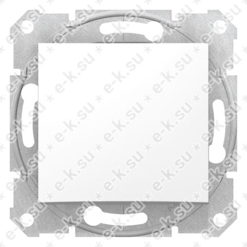 Sedna Выключатель 1-клавишный в рамку белый