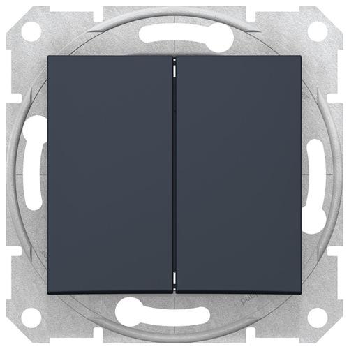 Sedna Выключатель 2-клавишный cx.5, графит