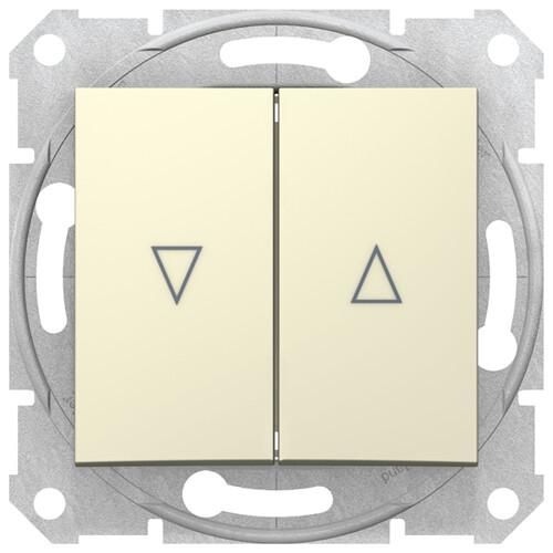 Sedna Выключатель для жалюзи электрический блок, бежевый