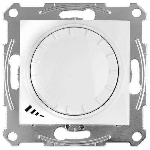 Sedna LED Светорегулятор поворотно-нажимной, проходной, универсальный 4-400Вт, белый
