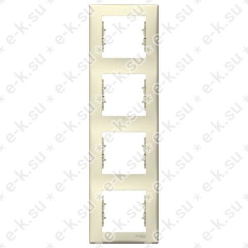 Sedna Рамка 4-постовая вертикальная, бежевый