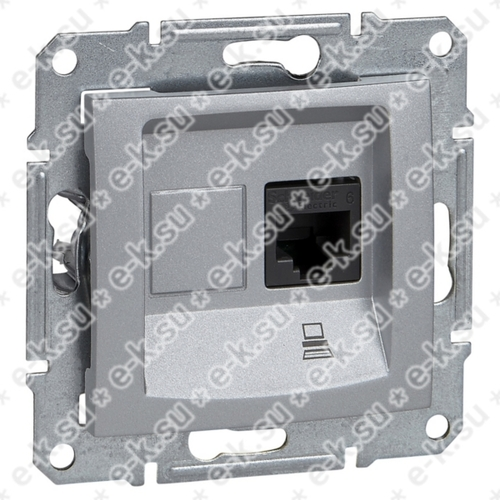 Sedna Розетка компьютерная RJ45 категория 5е в рамку алюминий