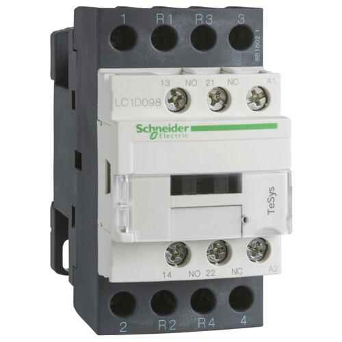 Контактор D 4P (2НО+2НЗ), 20А АС-1, катушка управления 220В AC, НО+НЗ