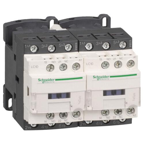 Реверсивный контактор D 3P, 9А AC-3, катушка управления 24B DС, НО+НЗ