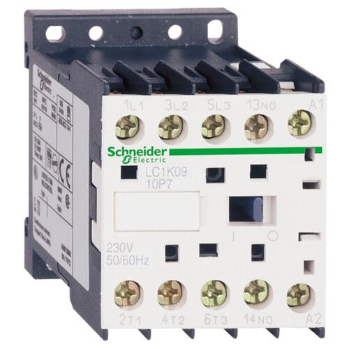 Контактор K 3P, 12А AC-3, катушка управления 220В АС, 1НО