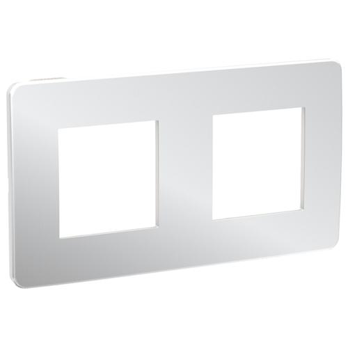 Unica Studio Рамка 2-постовая, хром/белый