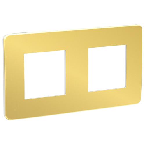 Unica Studio Рамка 2-постовая, золото/белый