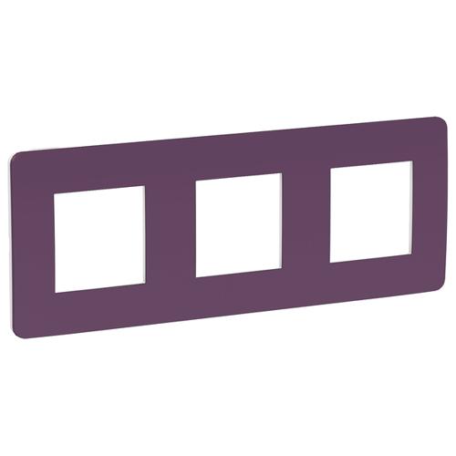 Unica Studio Рамка 3-постовая, лиловый/белый