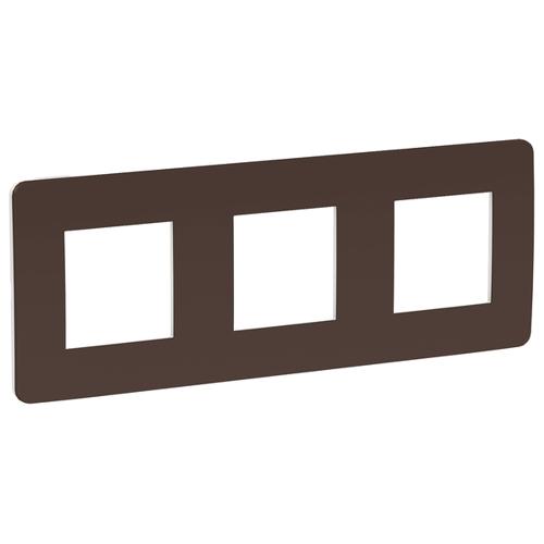 Unica Studio Рамка 3-постовая, шоколад/белый