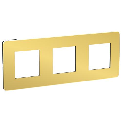 Unica Studio Рамка 3-постовая, золото/антрацит