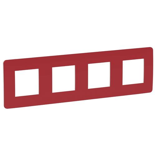 Unica Studio Рамка 4-постовая, красный/белый