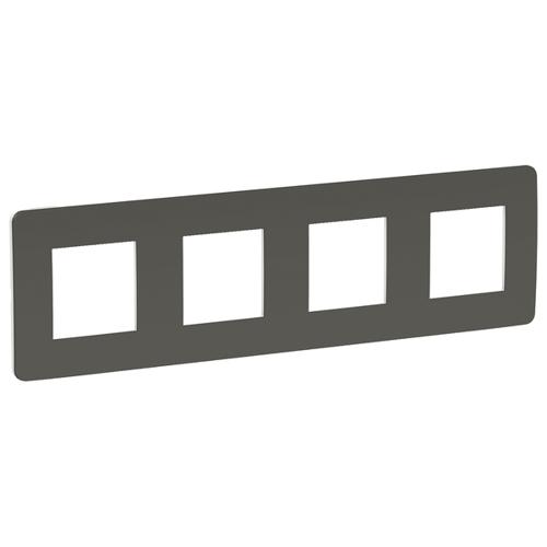 Unica Studio Рамка 4-постовая, дымчато-серый/белый