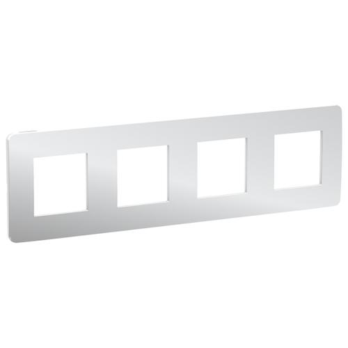 Unica Studio Рамка 4-постовая, хром/белый
