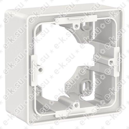Unica New Коробка для открытой установки, 1-постовая, белый